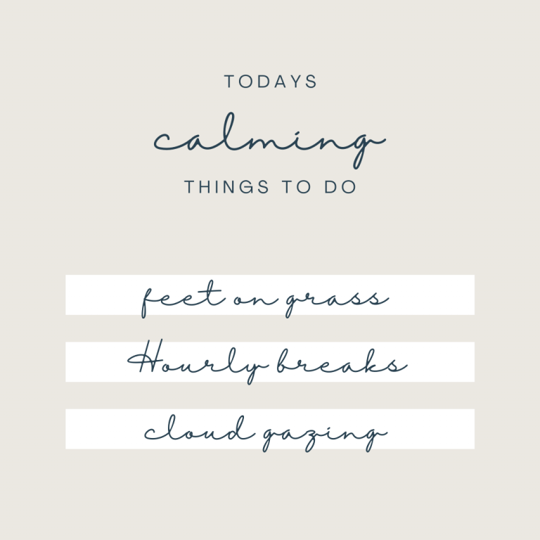 calming things to do to relieve stress